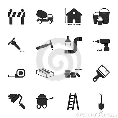 Free Repair, Building 16 Icons Universal Set For Web And Mobile Royalty Free Stock Photo - 63744965
