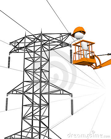 Repair of electrical wires.