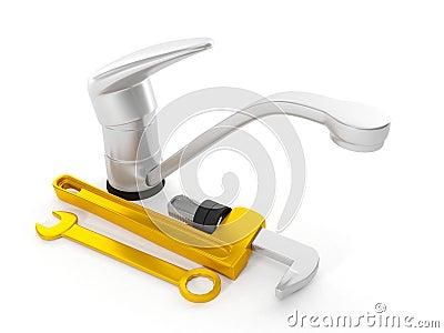 Repair faucet wrench