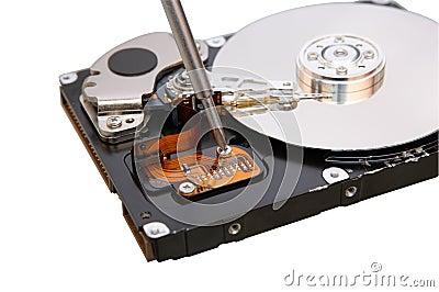 Repair hard disc
