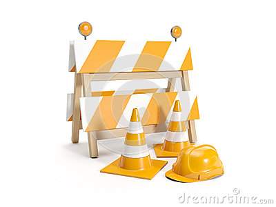 Repair roads, replacing the road. signs