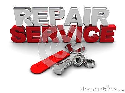 Repair service sign