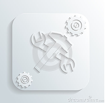 Repair tools icon vector