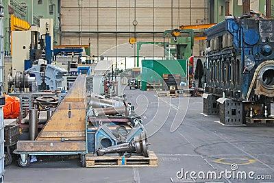 In the repair workshop