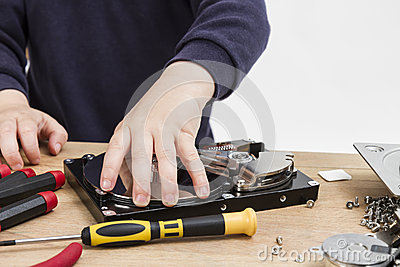 Repairing defect hard drive