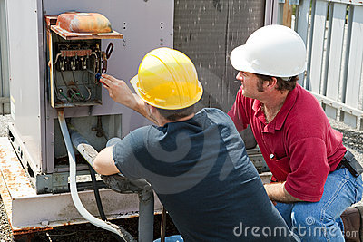 Repairing Industrial Air Conditioner