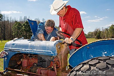 Repairing the Old Tractor
