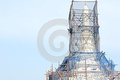 Repairing temple