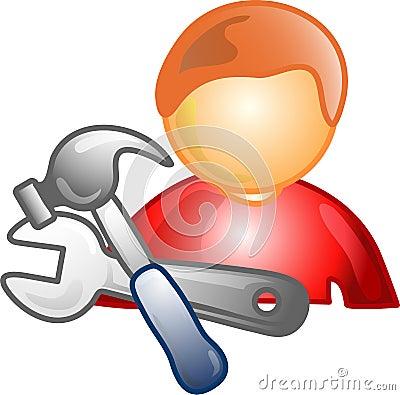 Repairman career icon or symbo