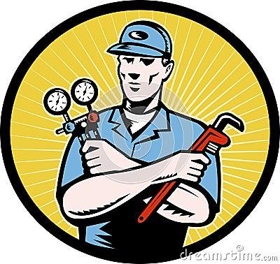 Repairman plumber technican