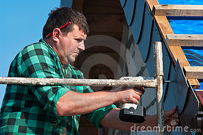 Repairman working