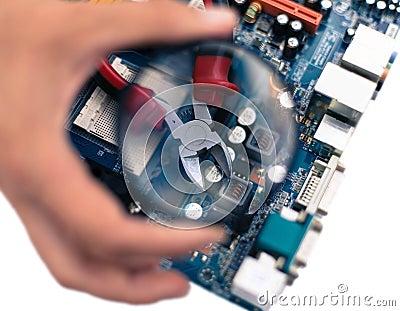 Reparaturen und Wartung und Überwachung des Computers