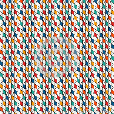 Free Repeated Diamonds Background. Geometric Seamless Pattern With Polygons Tessellation. Rhombuses And Lozenges Motif. Royalty Free Stock Photo - 107953525