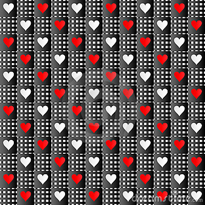 Repeated hearts texture