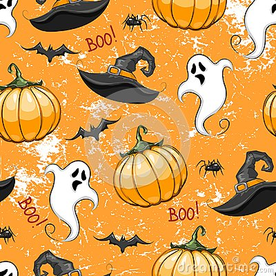 Free Repeated Pattern For Halloween. Stock Photo - 101705520