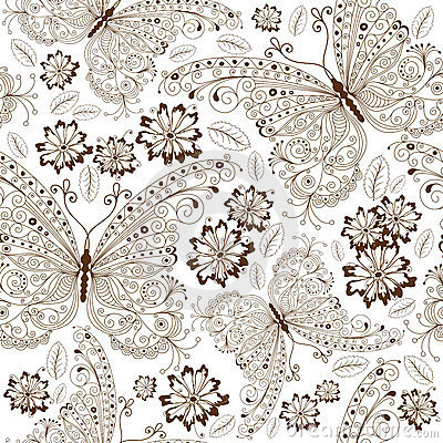 Free Repeating Floral Vintage Pattern Stock Photos - 23413093