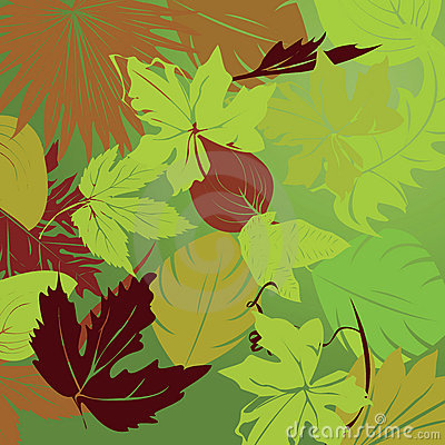 Repeating leaf background