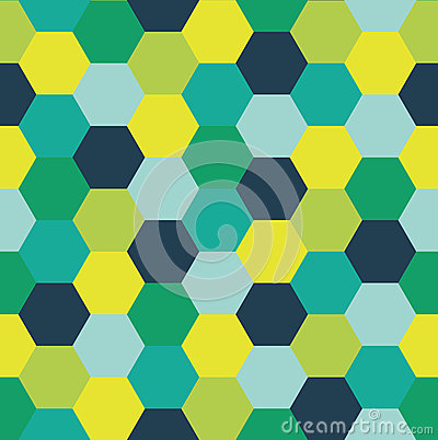 Repeating Pattern of Abstract Colorful Hexagon Vector Background