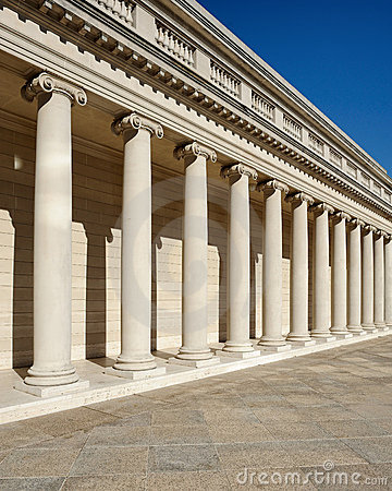 Repeating Roman columns