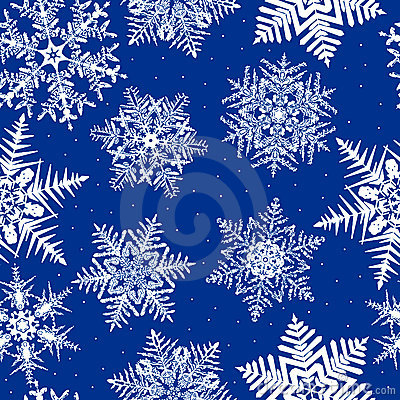 Repeating Snowflake Background