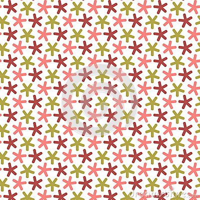Repeating stars with round angles,  seamless pattern.