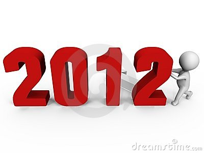 Replacing numbers to form new year 2012 - a 3d im