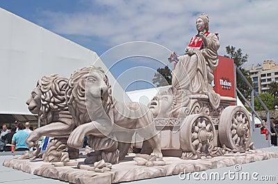 Replica of the Cibeles Statue Editorial Stock Photo
