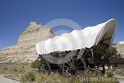 A replica of Covered wagon