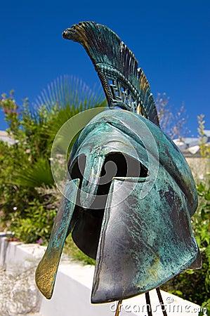 Replica greek war helmet