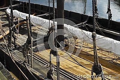 Replica of a historic ship