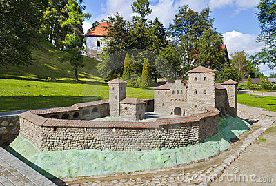 Replica of medieval fortress in Kandava, Latvia