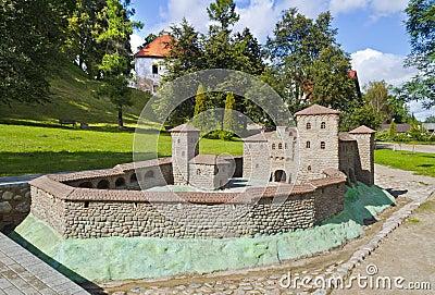 Replica of medieval fortress in Kandava, Latvia