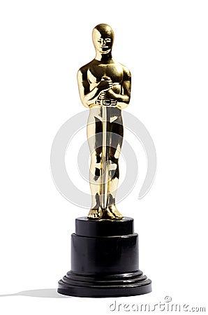 Free Replica Of An Oscar Award Royalty Free Stock Image - 38809346