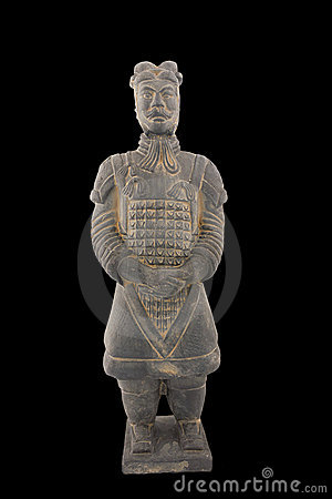 Free Replica Of Unearthed Terracotta Warrior Royalty Free Stock Image - 19526026
