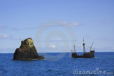A replica of ship Santa Maria