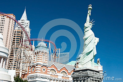Replica of the Statue of Liberty in New York-New York on the Las Editorial Stock Photo