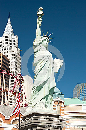 Replica of the Statue of Liberty in New York-New York on the Las Editorial Stock Image