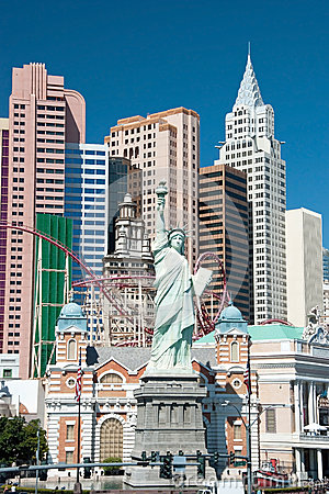 Replica of the Statue of Liberty in New York-New York on the Las Editorial Photography