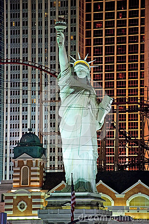 Replica of the Statue of Liberty in New York-New York on the Las