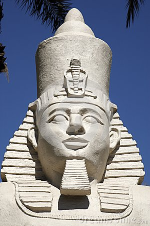 Replica statue of ramses II