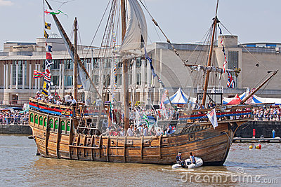 Replica Vessel Editorial Stock Photo