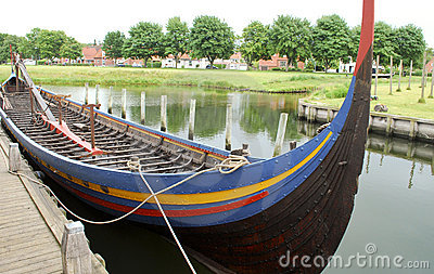 Replica of a viking ship