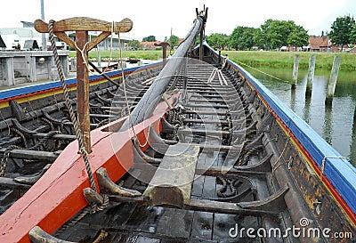 Replica of a viking ship