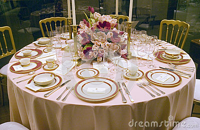 Replica of a White House state dinner on display Editorial Photo