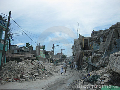 Reportage on the streets of haiti Editorial Stock Image