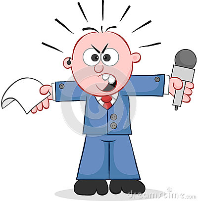 Reporter Angry and Shouting
