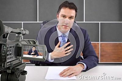 Reporter in News Room