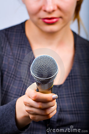 Free Reporter Taking Interview Or Opinion Poll Stock Photography - 8100832