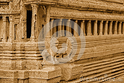 Reproduction De Temple D'Angkor Wat Images stock - Image: 26566324