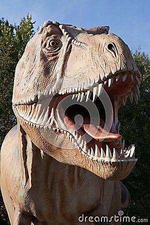 Reptile dinosaur tyrannosaurus rex Editorial Stock Photo